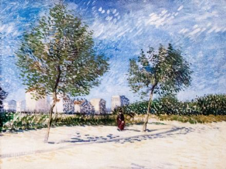 Van Gogh, Vincent: On the Outskirts of Paris - My Dream. Fine Art Print/Poster (004201)